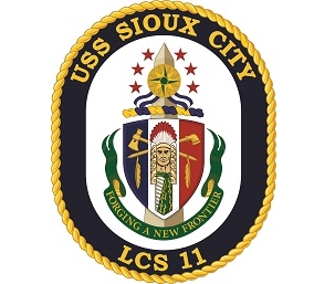 USS Sioux City Commissioning Committee Card Image